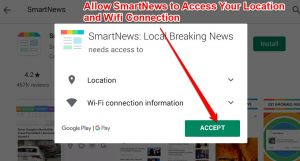 Allow Access to Location and Wifi