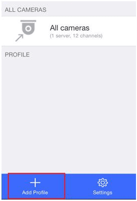 download Vmobile for PC - Add new profile to monitor channels from other servers