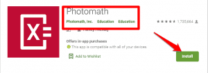 Installing Photomath - Download Photomath for PC