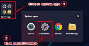 Open System Settings - Prisma for PC