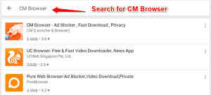 Search For CM Browser -Download CM Browser for PC